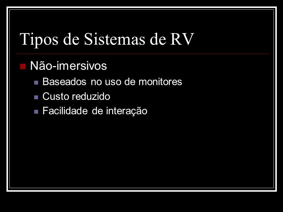 Tipos de Sistemas de RV Não-imersivos Baseados no uso de monitores