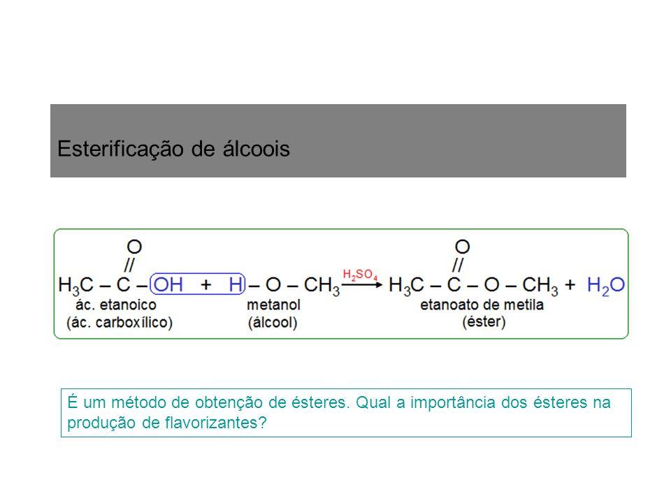 Esterificação de álcoois