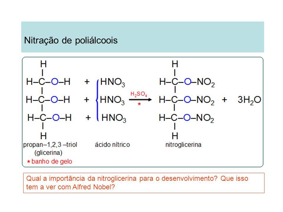 Nitração de poliálcoois