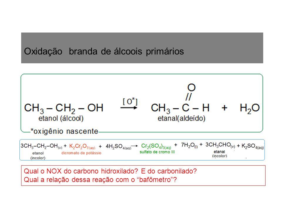 Oxidação branda de álcoois primários