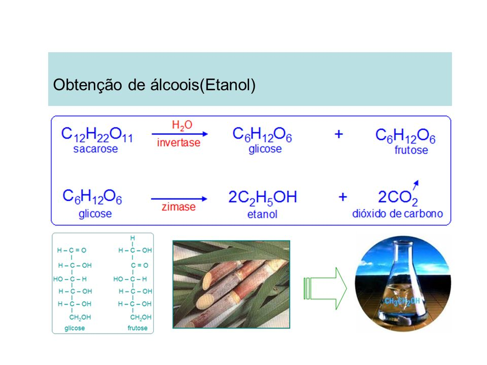 Obtenção de álcoois(Etanol)