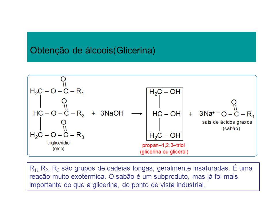 Obtenção de álcoois(Glicerina)
