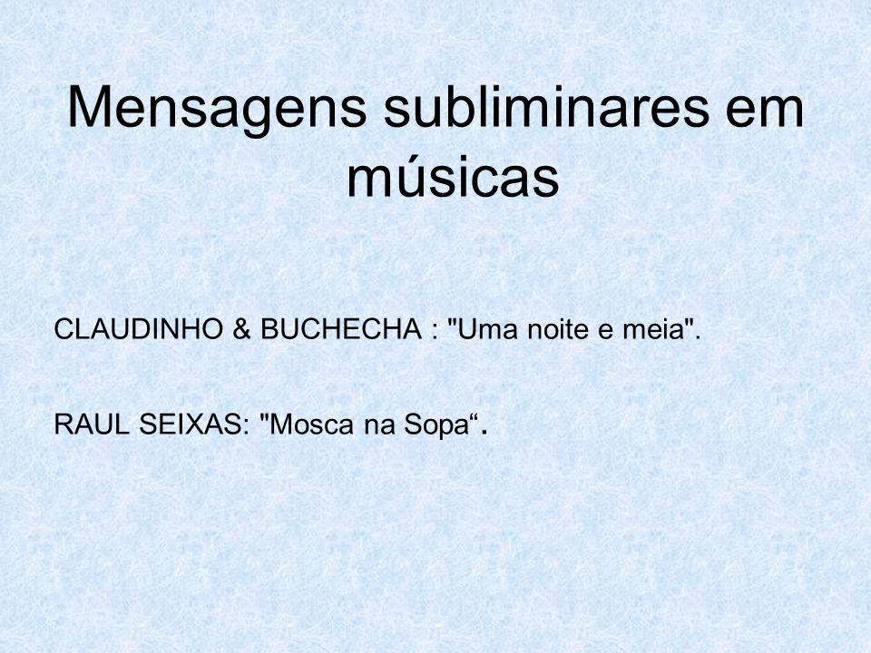 Mensagens subliminares em músicas