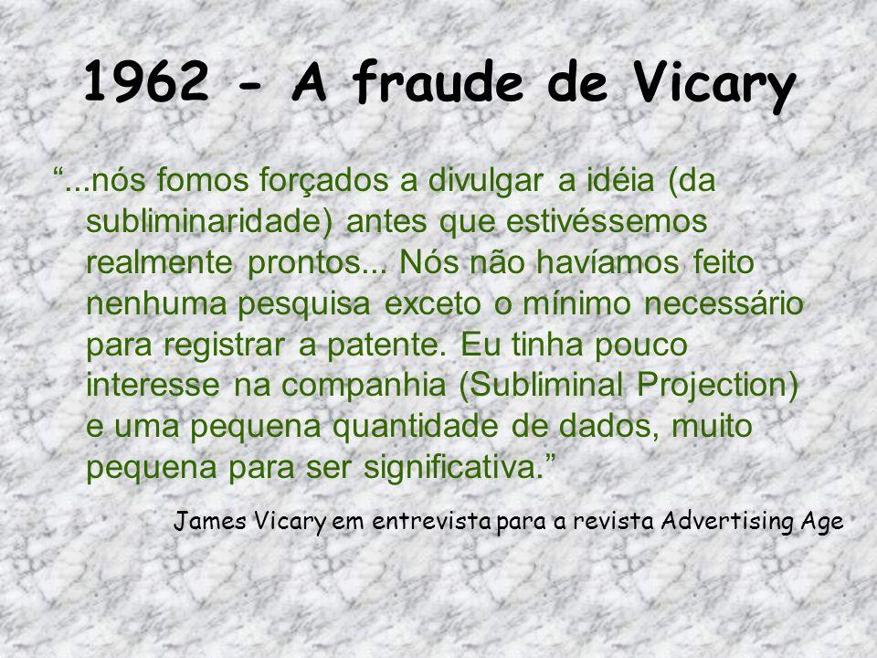 1962 - A fraude de Vicary