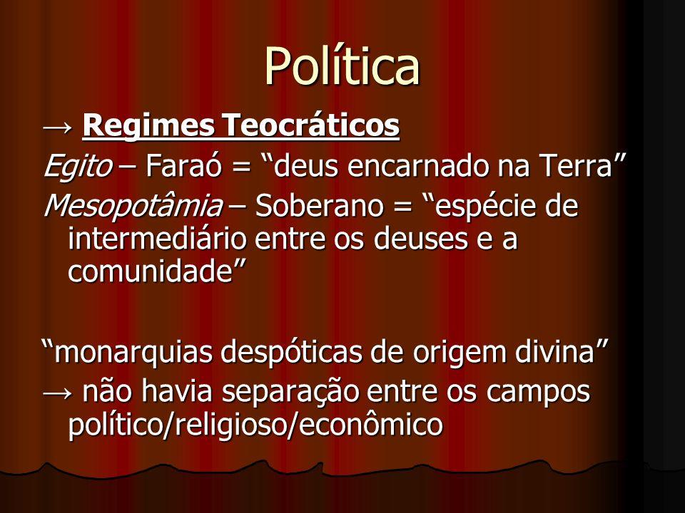 Política → Regimes Teocráticos
