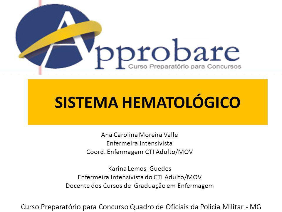 SISTEMA HEMATOLÓGICO Ana Carolina Moreira Valle. Enfermeira Intensivista. Coord. Enfermagem CTI Adulto/MOV.