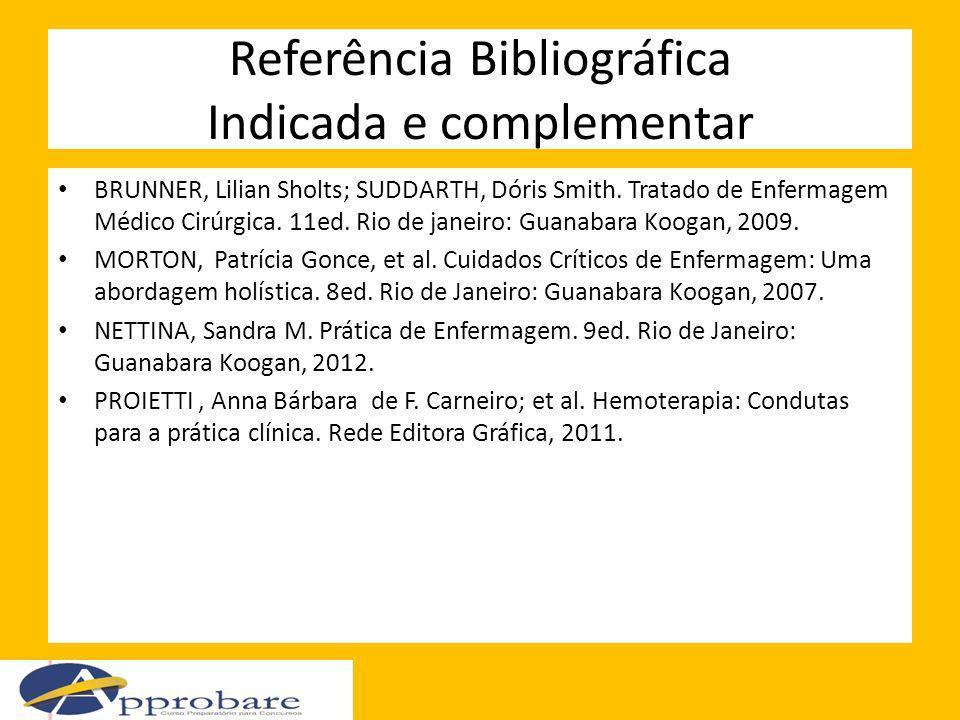 Referência Bibliográfica Indicada e complementar