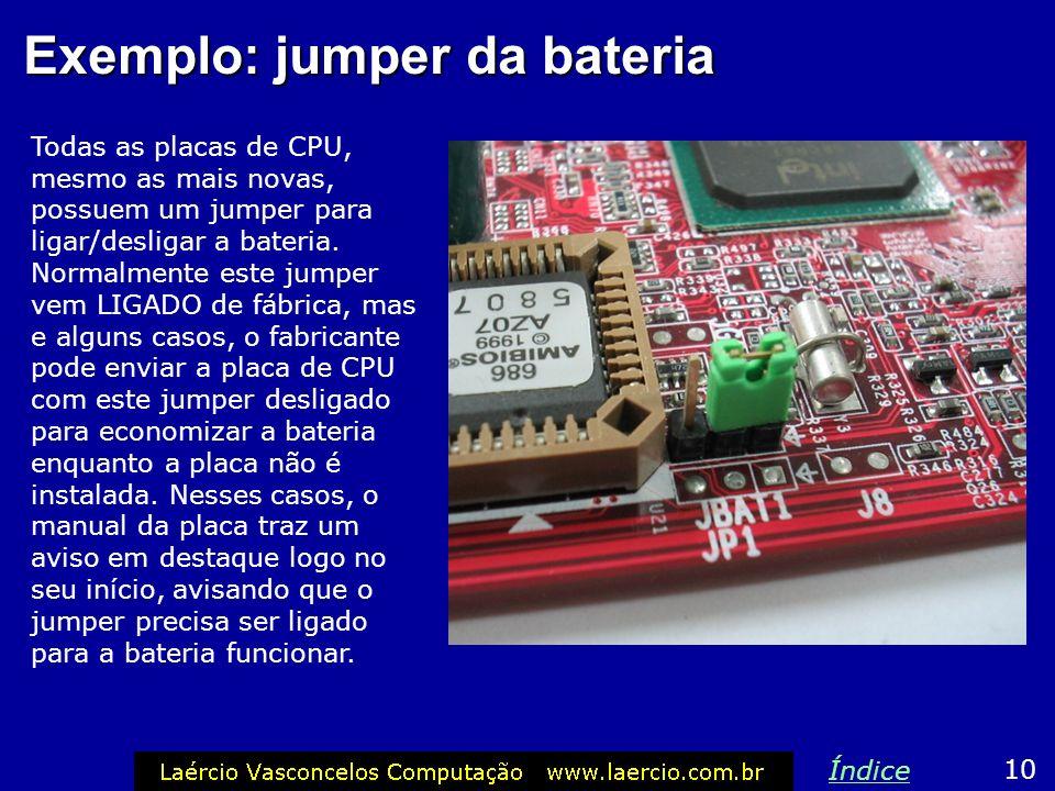 Exemplo: jumper da bateria