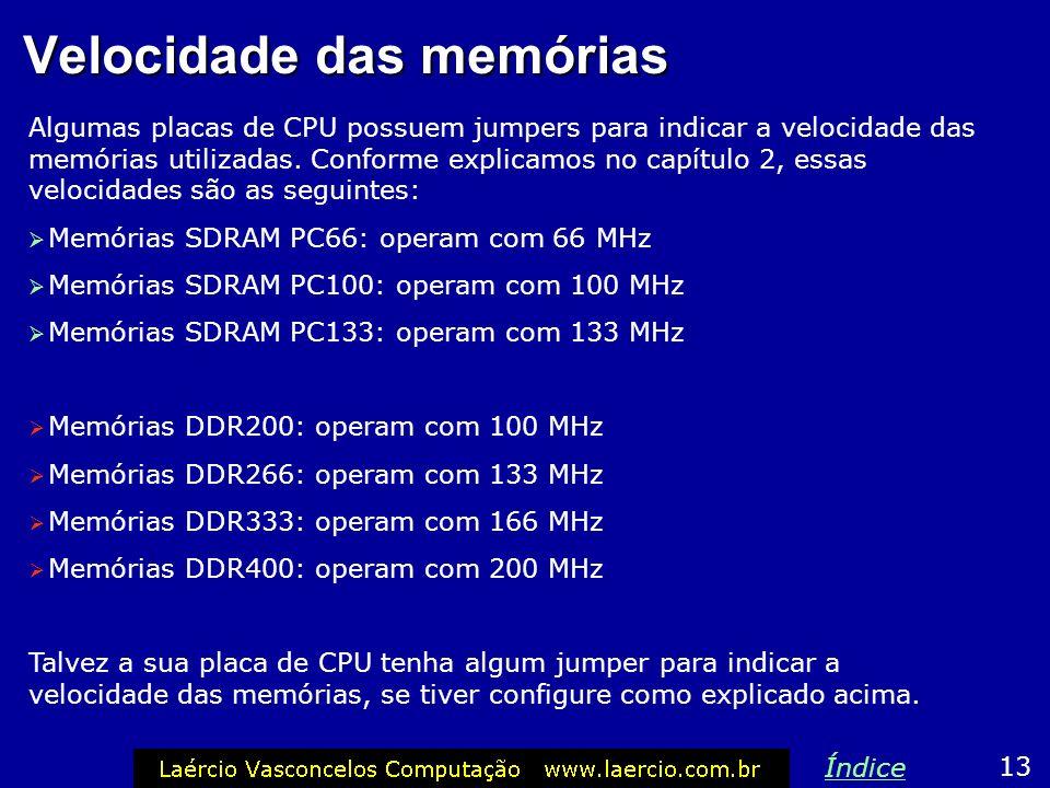 Velocidade das memórias