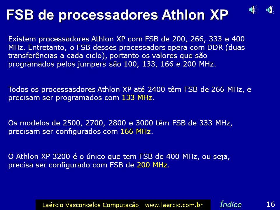 FSB de processadores Athlon XP