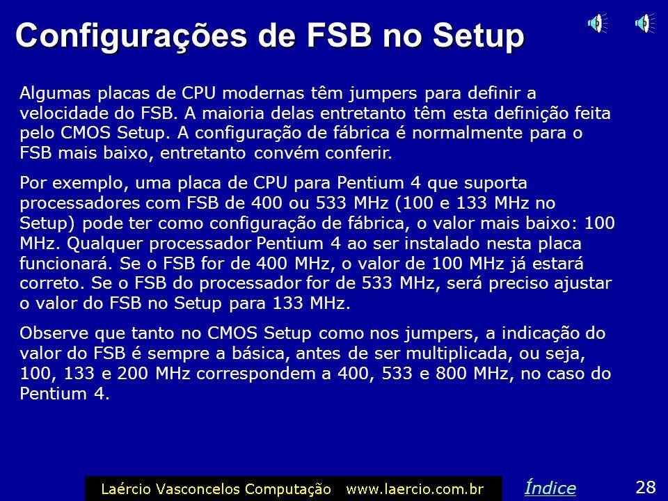 Configurações de FSB no Setup