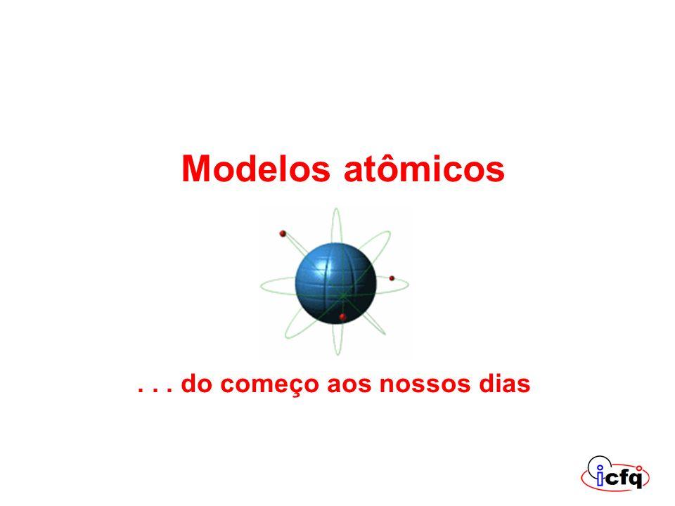 Modelos atômicos . . . . do começo aos nossos dias