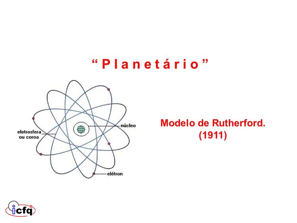 P l a n e t á r i o Modelo de Rutherford. (1911)