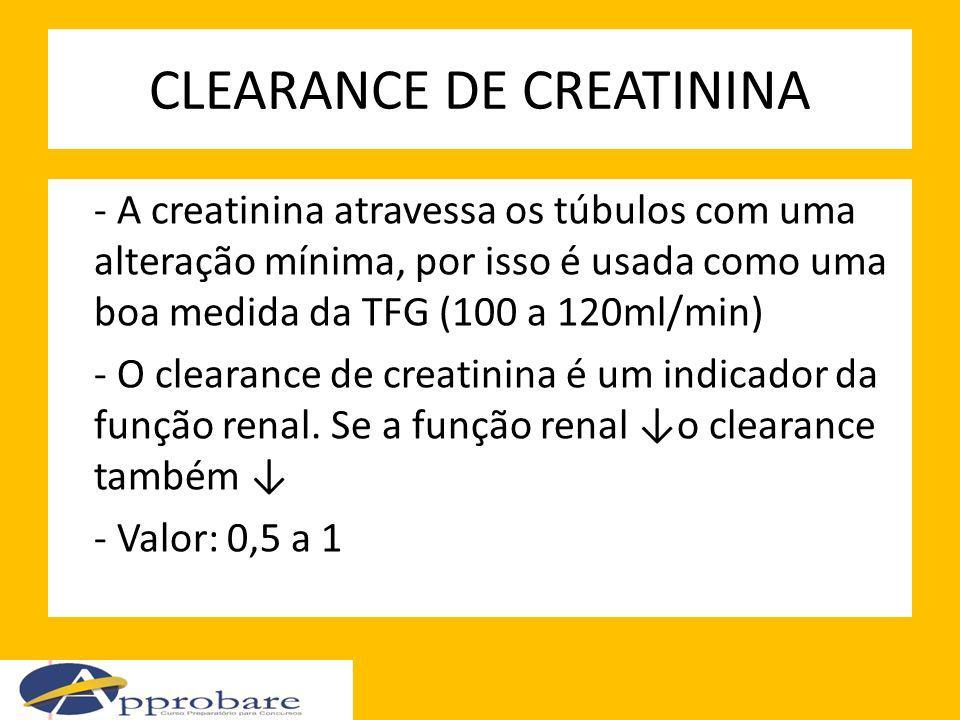 CLEARANCE DE CREATININA