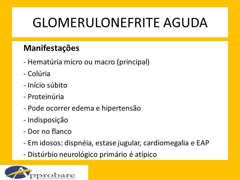 GLOMERULONEFRITE AGUDA