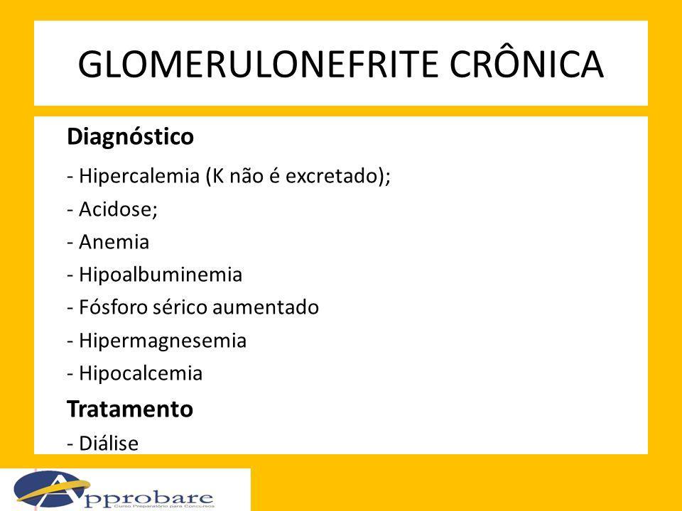 GLOMERULONEFRITE CRÔNICA