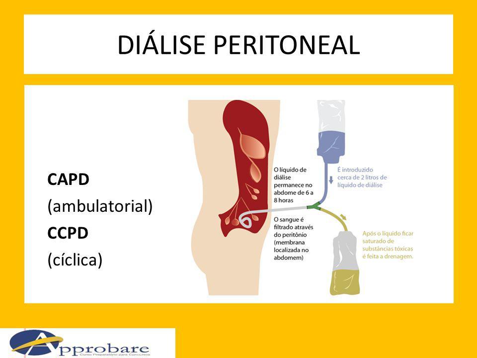 DIÁLISE PERITONEAL CAPD (ambulatorial) CCPD (cíclica)
