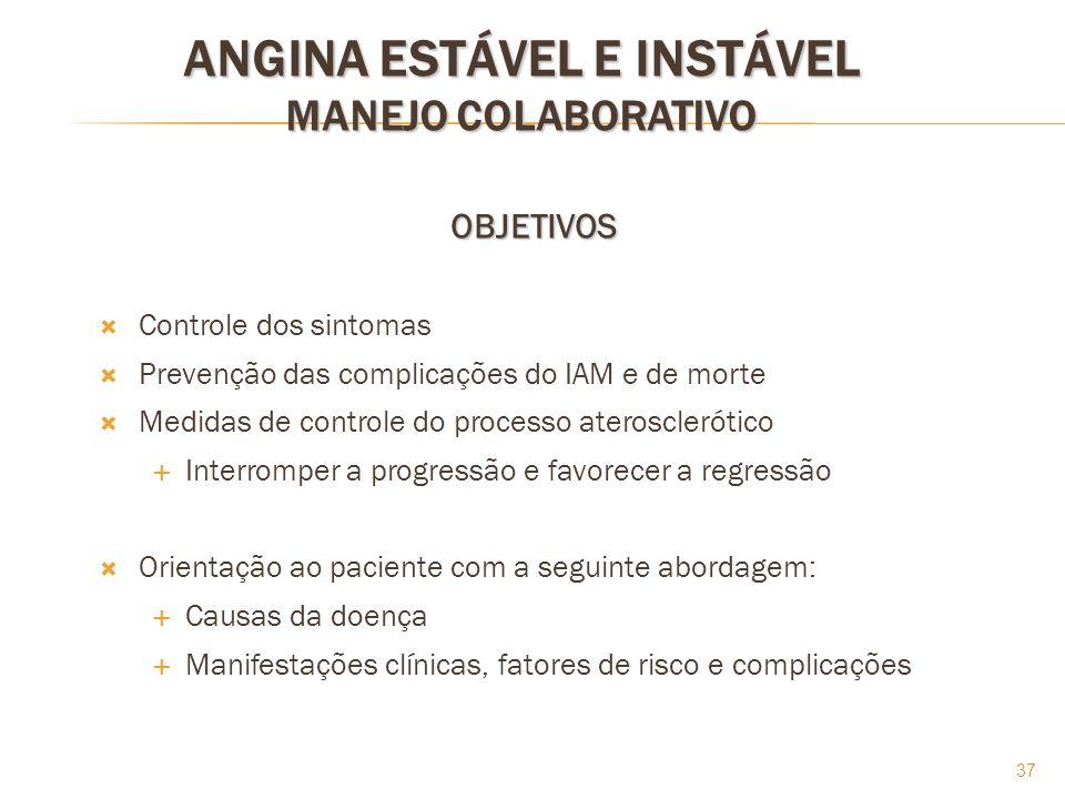 ANGINA ESTÁVEL E INSTÁVEL MANEJO COLABORATIVO
