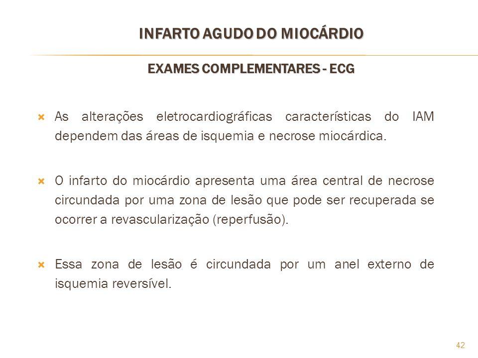 INFARTO AGUDO DO MIOCÁRDIO EXAMES COMPLEMENTARES - ECG