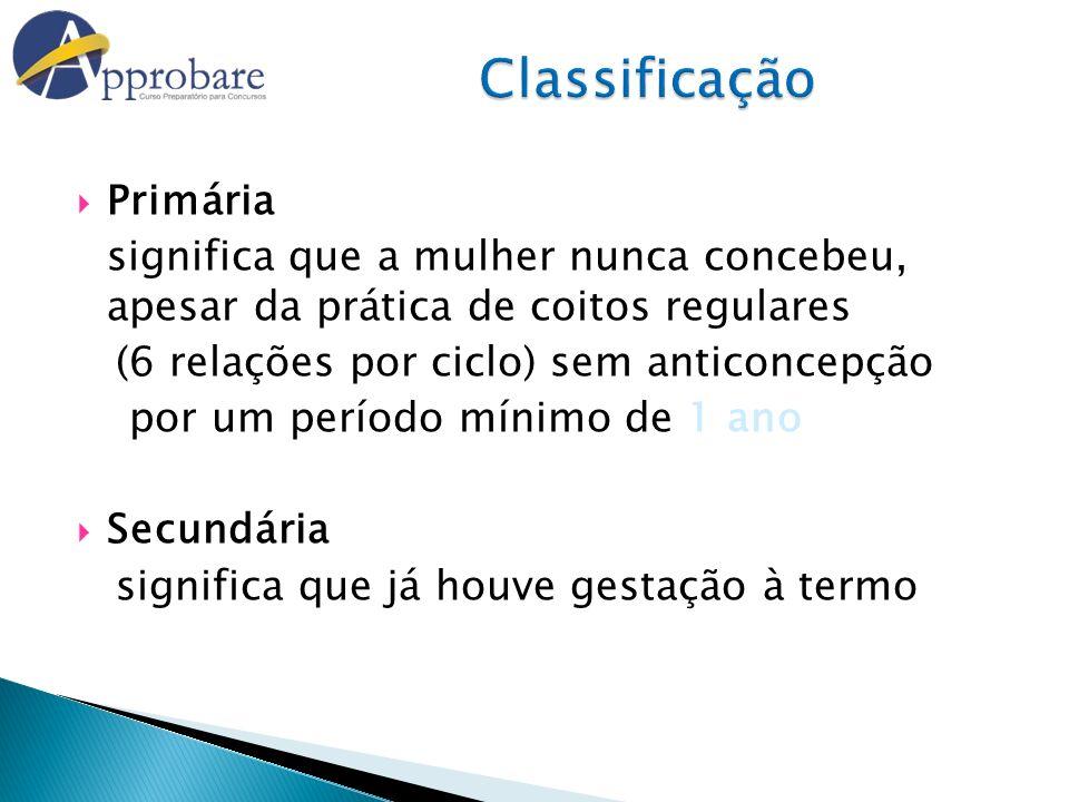 Classificação Primária