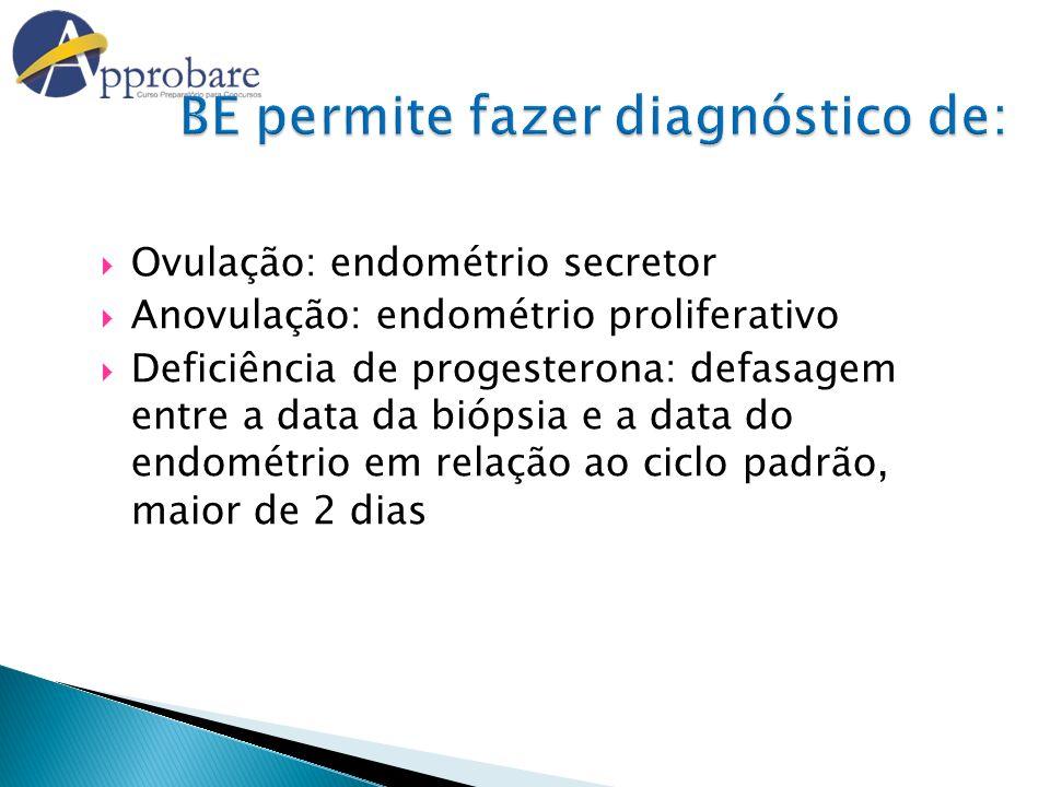 BE permite fazer diagnóstico de: