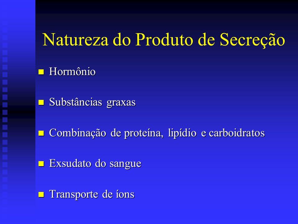 Natureza do Produto de Secreção