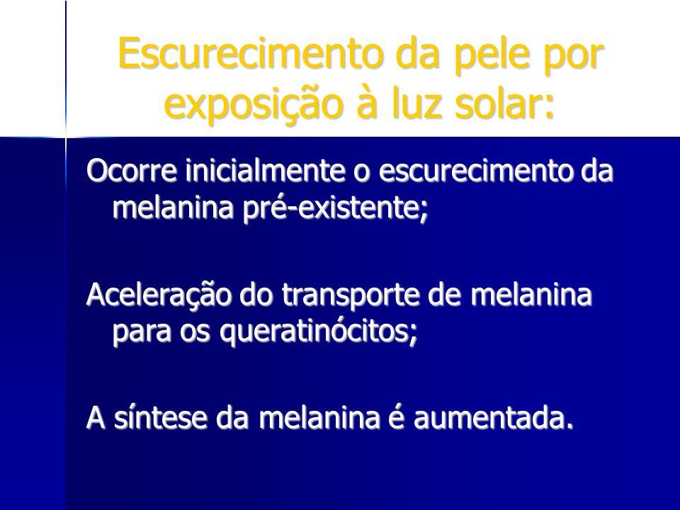 Escurecimento da pele por exposição à luz solar: