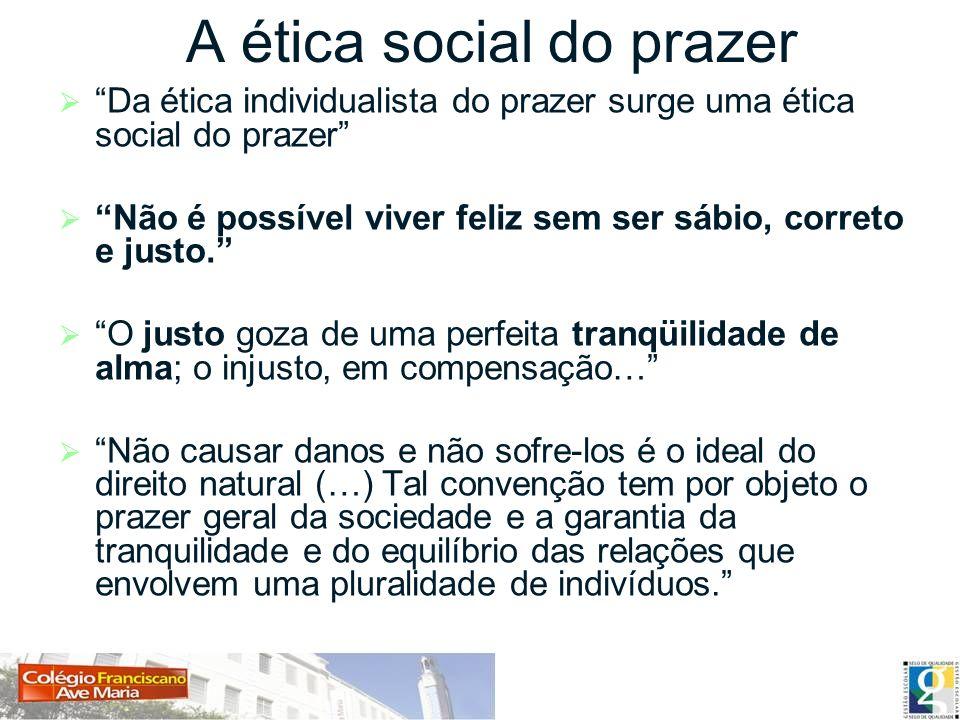 A ética social do prazer