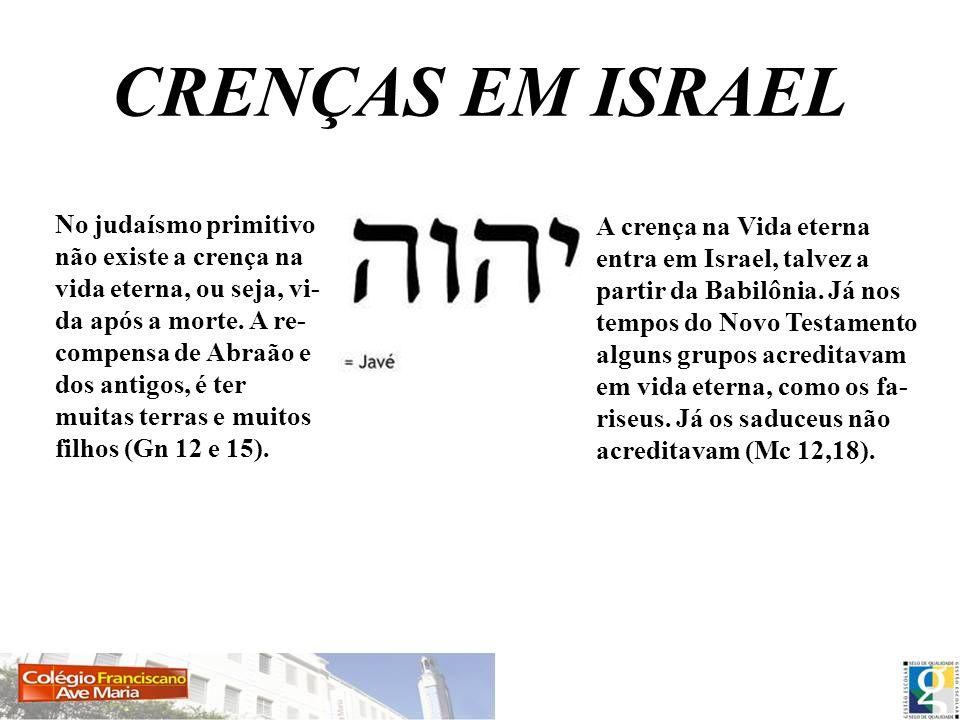 CRENÇAS EM ISRAEL