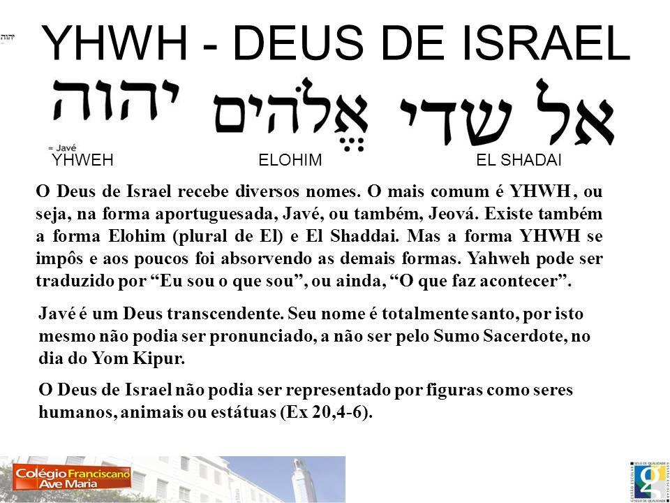 YHWH - DEUS DE ISRAEL YHWEH ELOHIM EL SHADAI.