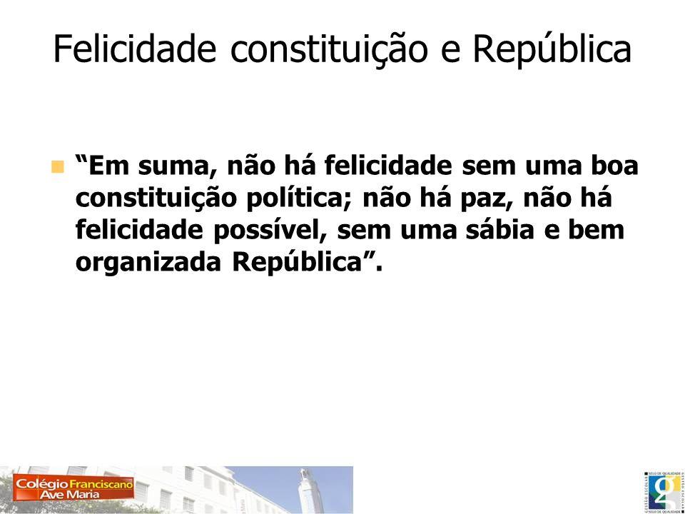 Felicidade constituição e República