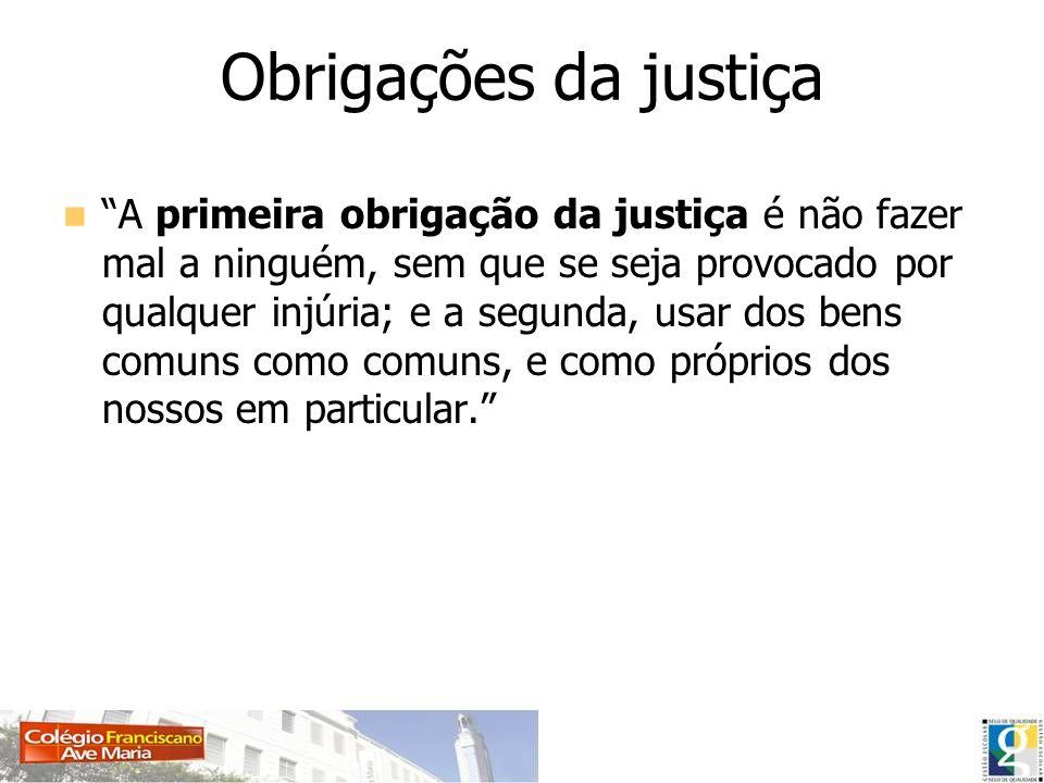 Obrigações da justiça