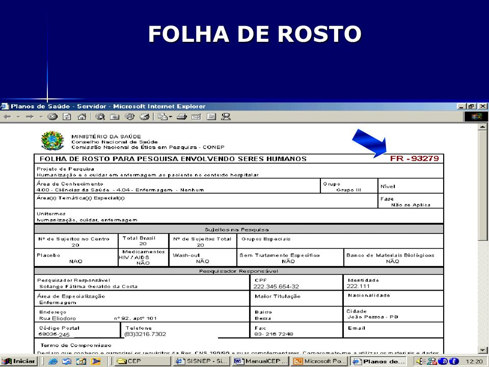 PROFª SOLANGE COSTA – COORD. CEP-HULW-UFPB