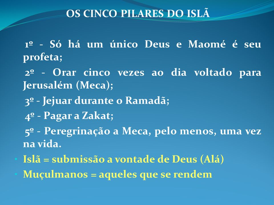 OS CINCO PILARES DO ISLÃ