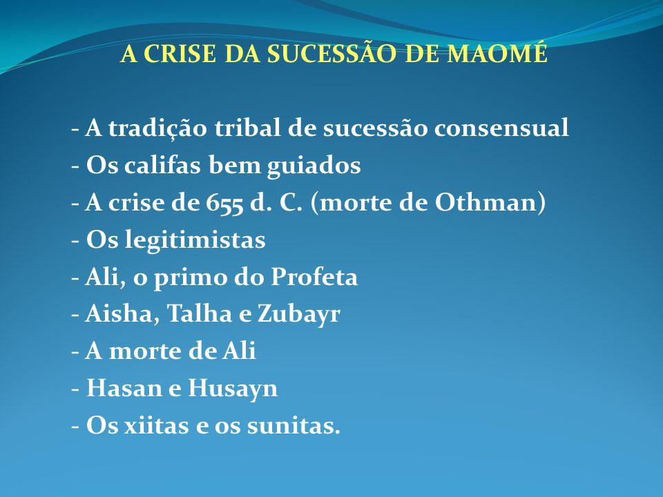 A CRISE DA SUCESSÃO DE MAOMÉ