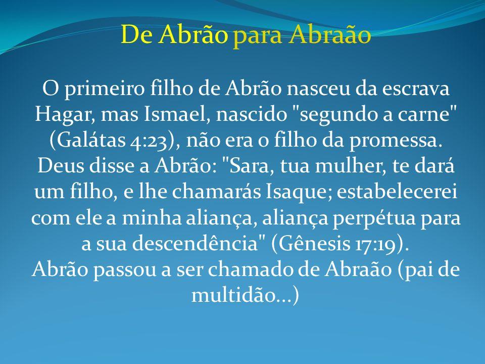 De Abrão para Abraão