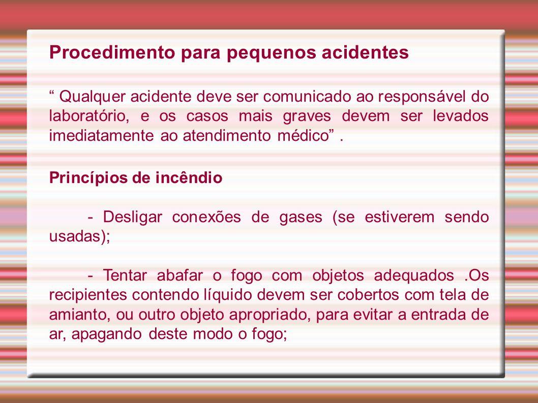 Procedimento para pequenos acidentes