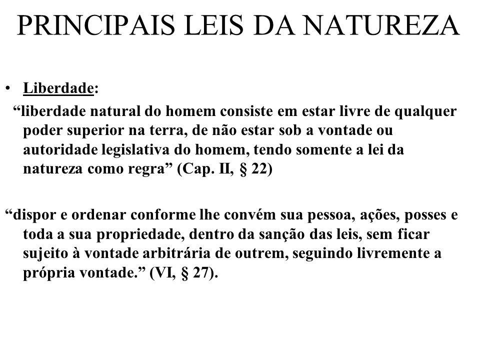 PRINCIPAIS LEIS DA NATUREZA