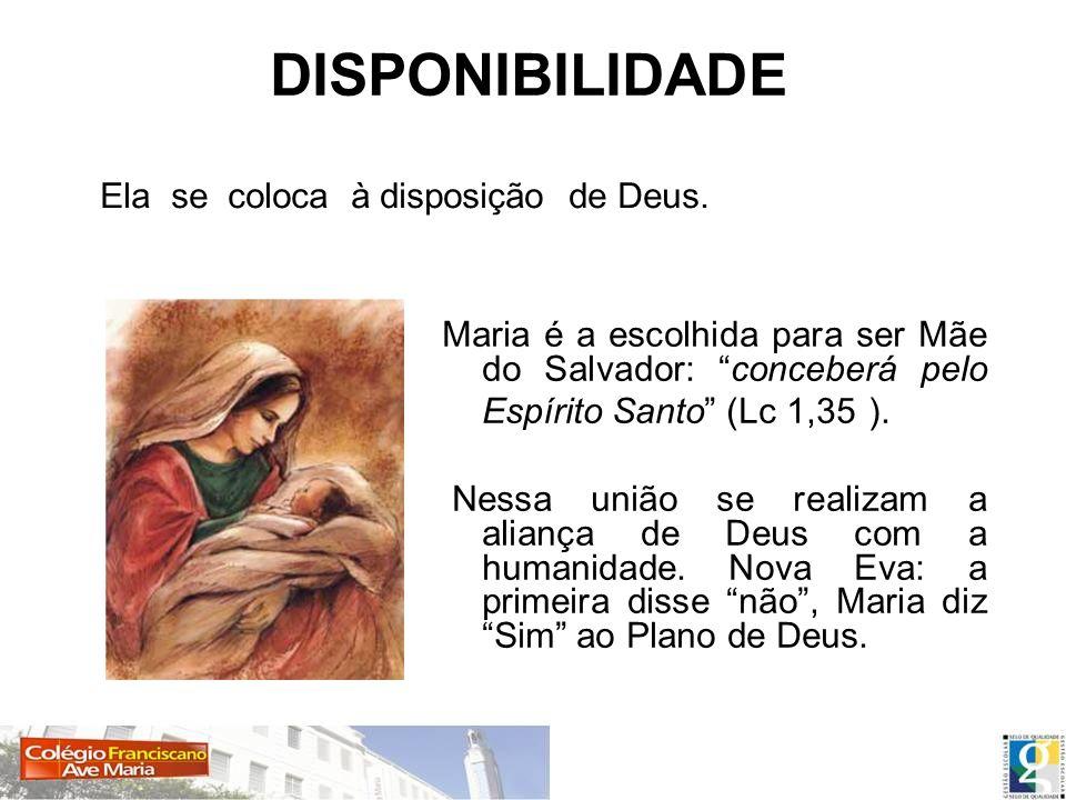 DISPONIBILIDADE Ela se coloca à disposição de Deus.