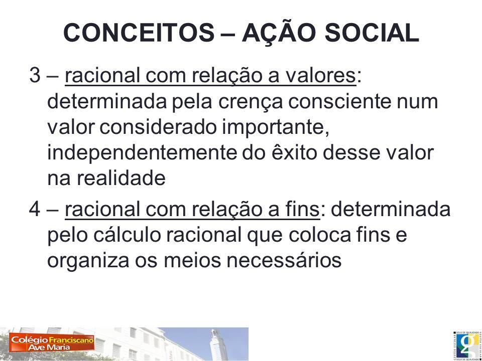 CONCEITOS – AÇÃO SOCIAL