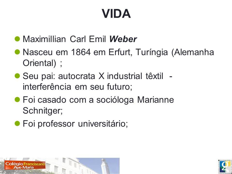 VIDA Maximillian Carl Emil Weber