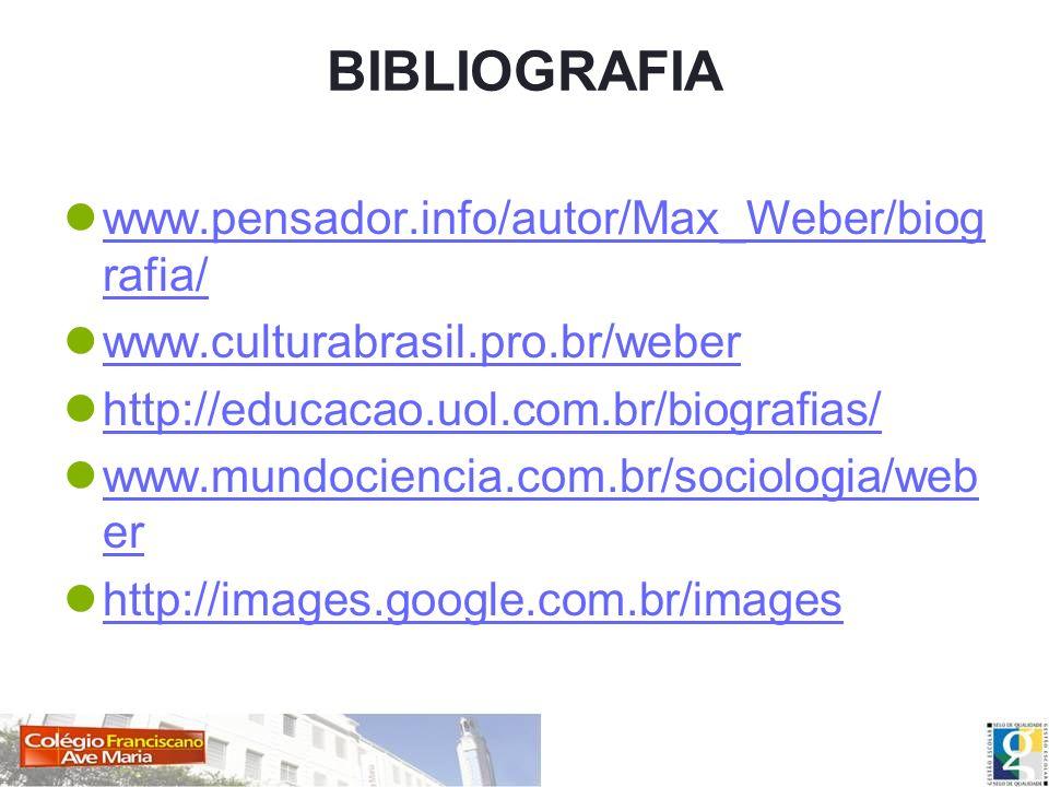 BIBLIOGRAFIA www.pensador.info/autor/Max_Weber/biografia/