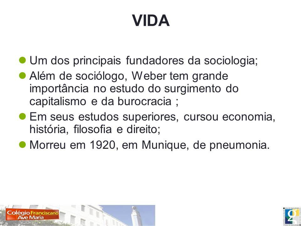 VIDA Um dos principais fundadores da sociologia;