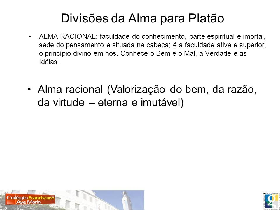 Divisões da Alma para Platão