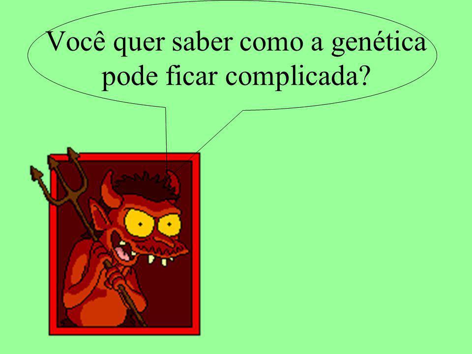 Você quer saber como a genética pode ficar complicada
