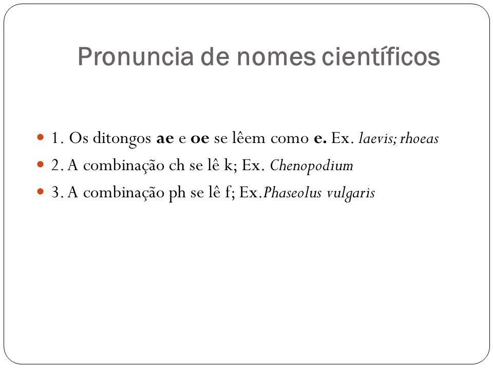 Pronuncia de nomes científicos