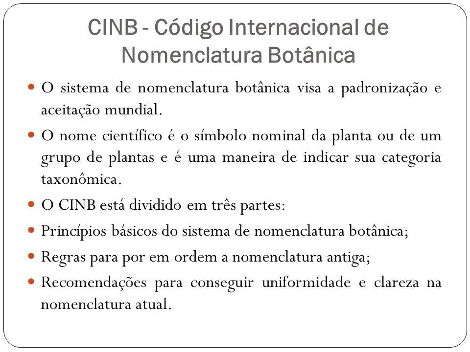 CINB - Código Internacional de Nomenclatura Botânica
