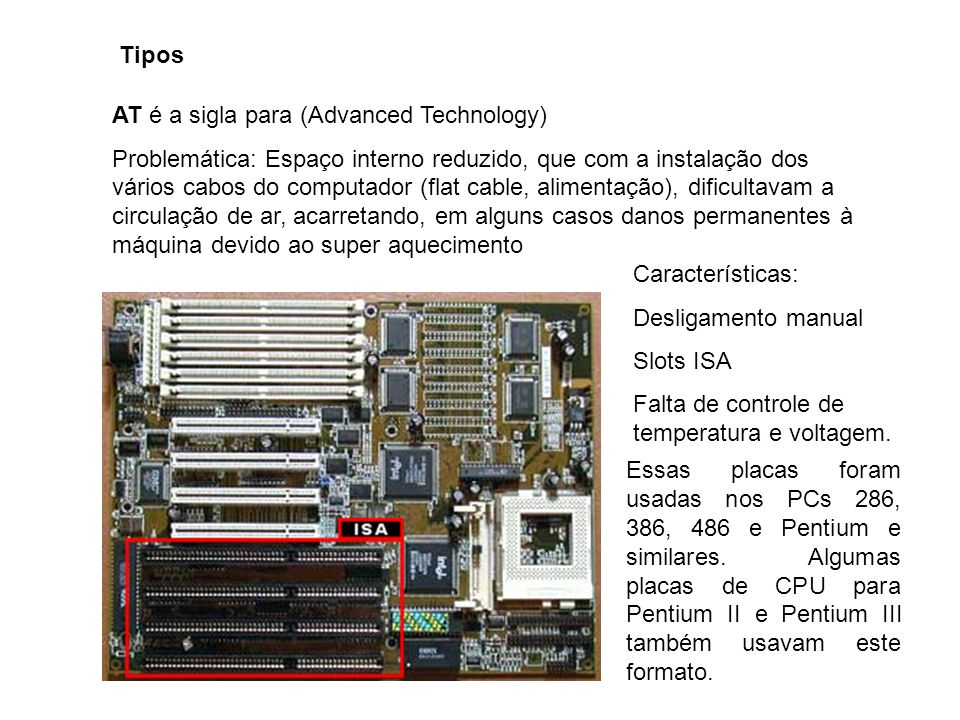 Tipos AT é a sigla para (Advanced Technology)