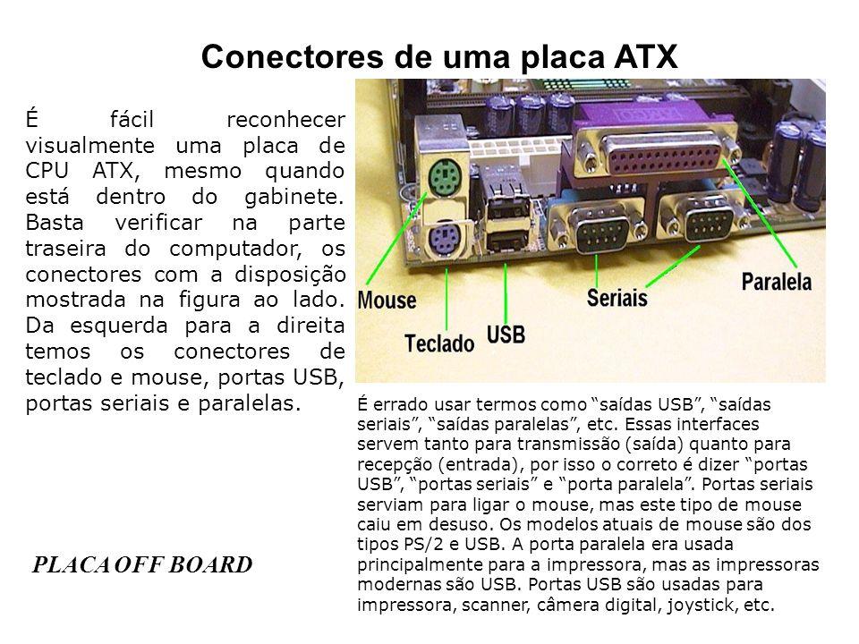 Conectores de uma placa ATX