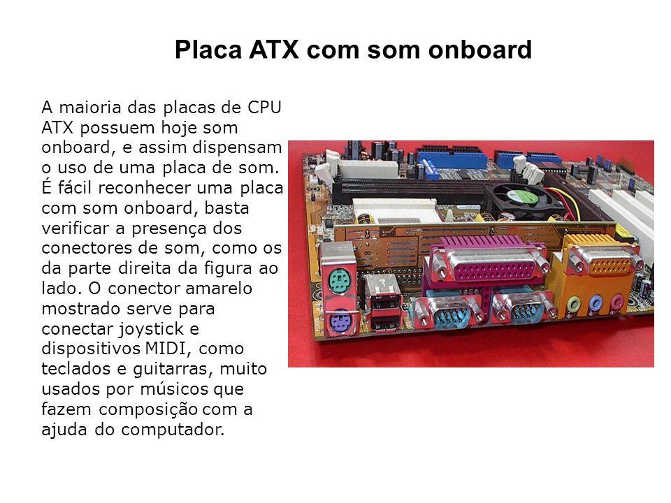 Placa ATX com som onboard